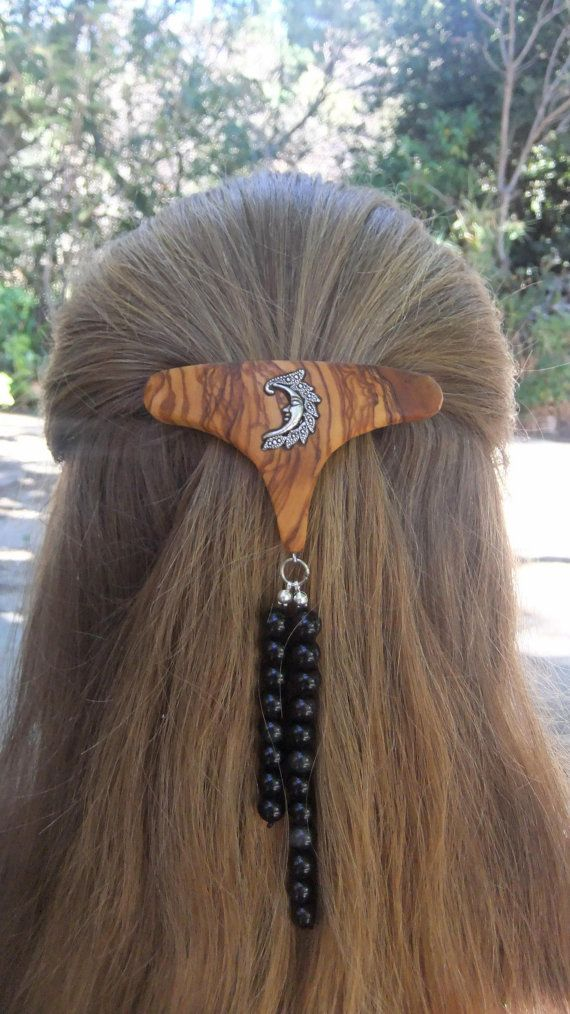 Fashion Week Hair BarretteLesvos olive wood by ellenisworkshop