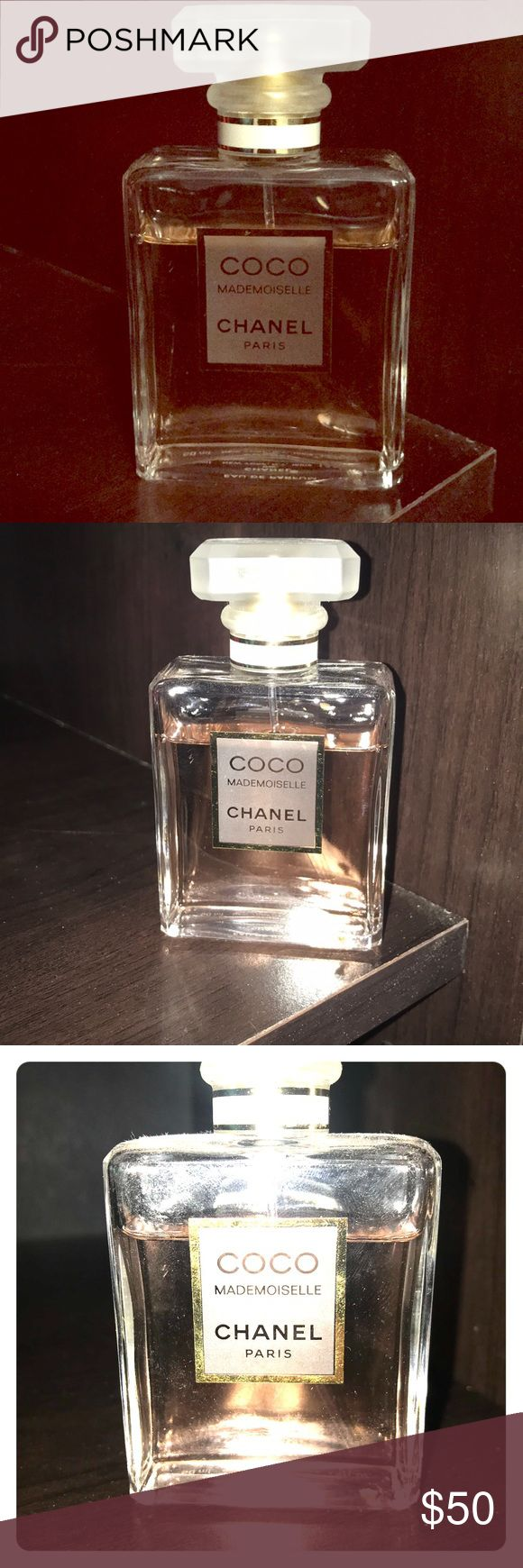 COCO Mademoiselle CHANEL Paris More than 80% of a 1.7 FL. OZ bottle!!! The only issue is the lid doesn't snap on the bottle very good. It does its job in covering the spray cap, but it just doesn't stay on very well...(for traveling, etc..)other than that, no issues. CHANEL Other
