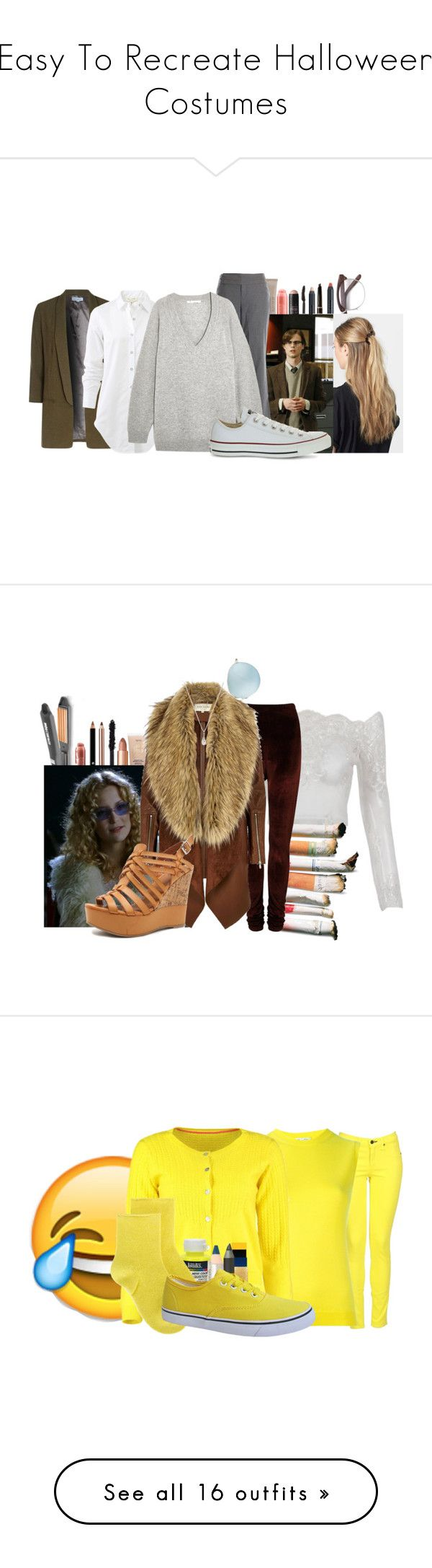"""Easy To Recreate Halloween Costumes"" by cheyleexox ❤ liked on Polyvore featuring Anastasia Beverly Hills, Maybelline, Laura Mercier, Nudestix, Barry M, France Luxe, Alice & You, rag & bone, The Limited and T By Alexander Wang"