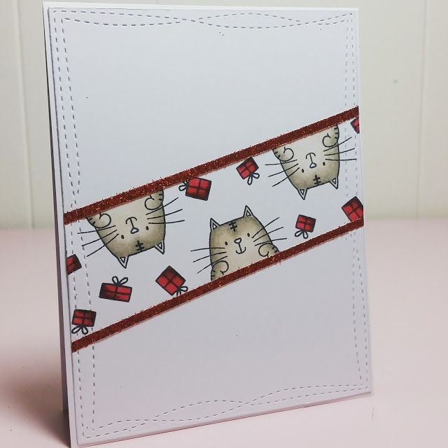 Use the cat from Peek-a-boo stamp set for this layout