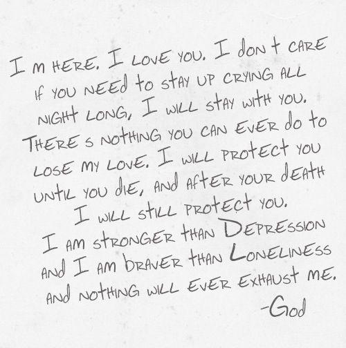 Love, God.