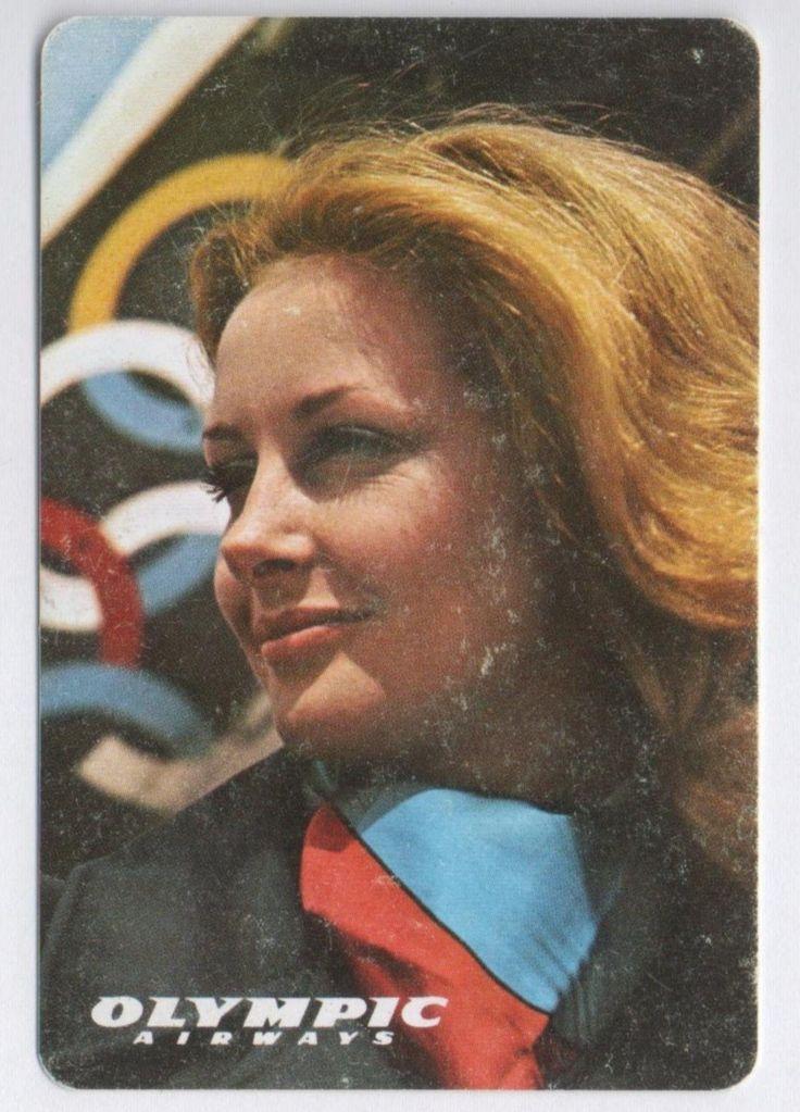 Olympic Airways Vintage Plastic Pocket Calendar, 1973