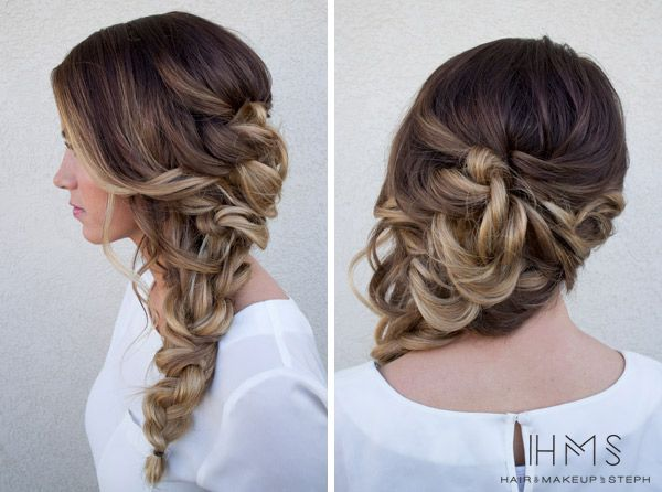Twisty side braid