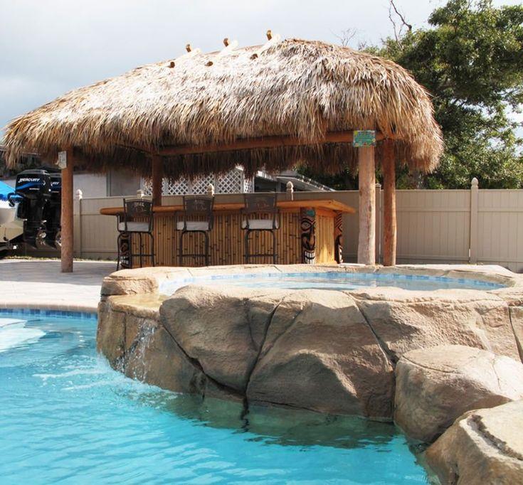 poolside tiki bar  For the Home  Tiki hut Cozy patio Bar