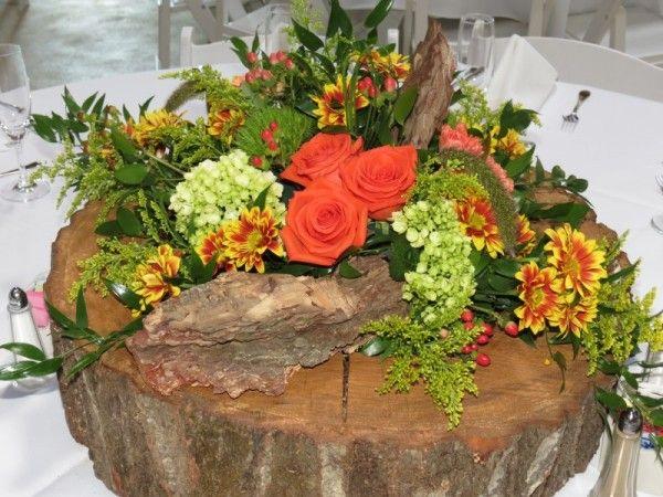 diy tree stumps decorating for wedding | Tree Stump Centerpiece Share
