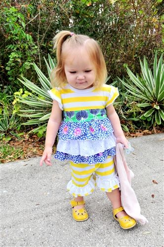 Haute Baby - Garden Party Infant & Toddler Swing Set Spring 2014