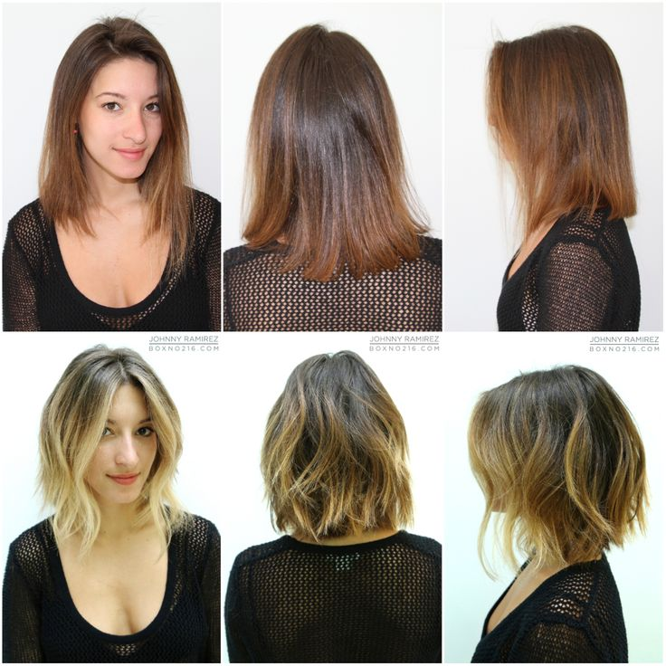 From Plain And Slightly Too Red To Stunning Sunkissed Brunette Johnny Gave Her A Natural Looking Color With Face Framing Highlights Anh Cut