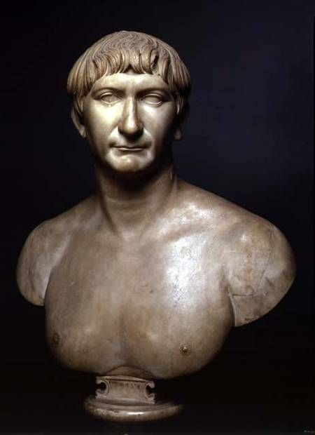 Roman - Portrait bust of emperor Trajan (53-117 AD) 1st-2nd century AD
