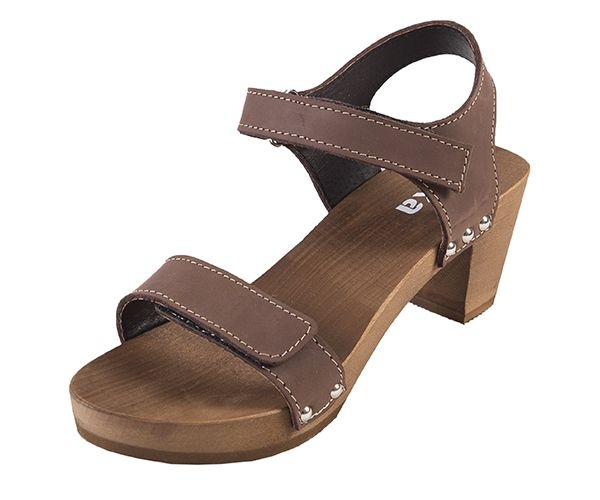 Dreváky sandále OD15 - Tmavý Nubuk - Dámske sandále - Dreváky, drevaky-buxa.sk, drevená obuv