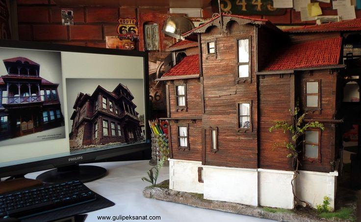 #art #artist #arquitetura #mimari #gulipeksanat #painting #baraquestyle #mansion #konak #buinding #bolu #mudurnu #windows #armutçularkonağı #architeture #history #diorama #handmade #love #desiğner #tasarım #wood #paper #drawing #mywork #proje #arte #unıcef #tarihikonak #miniatures