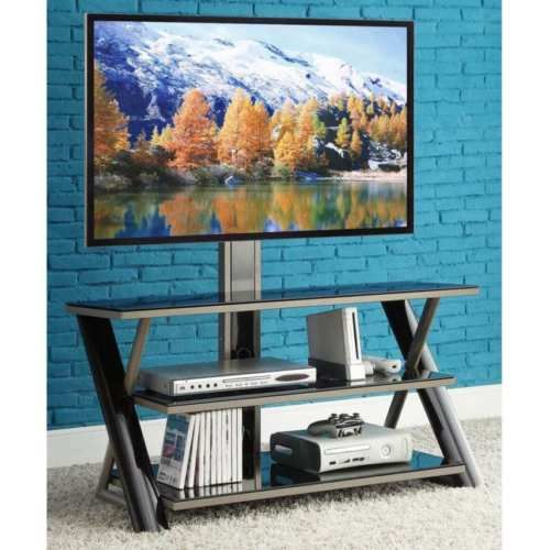 NEW-TV-Holder-Stand-With-Mount-for-TVs-up-to-50-034-Entertainment-Storage-Shelf
