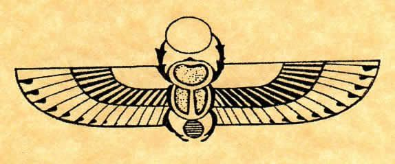 Egyptian Winged Scarab stamp