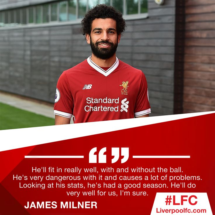 James Milner on Mohamed Salah. Exciting times for the Reds! 🔥 (tap on pic to see full image)