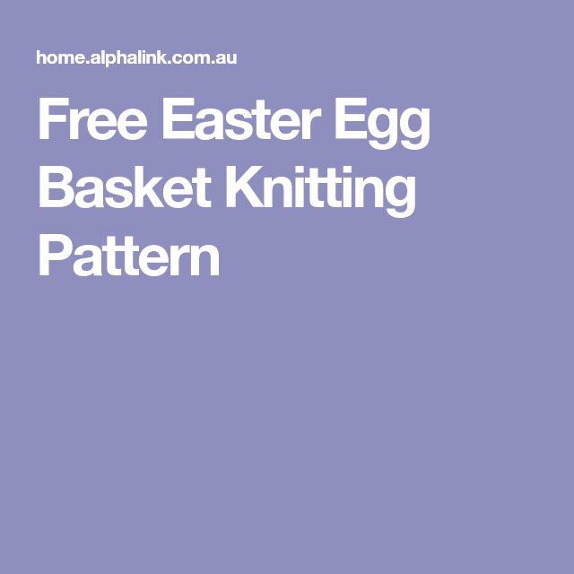 Free Easter Egg Basket Knitting Pattern