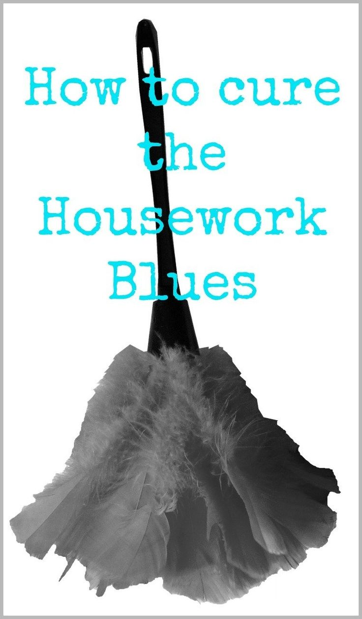 How to cure the Housework Blues - let's simplify and speed up housework with these easy motivating tips to make housework less of a pain!