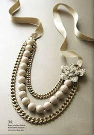 Resultado de imagen de pictures of necklaces with ribbon