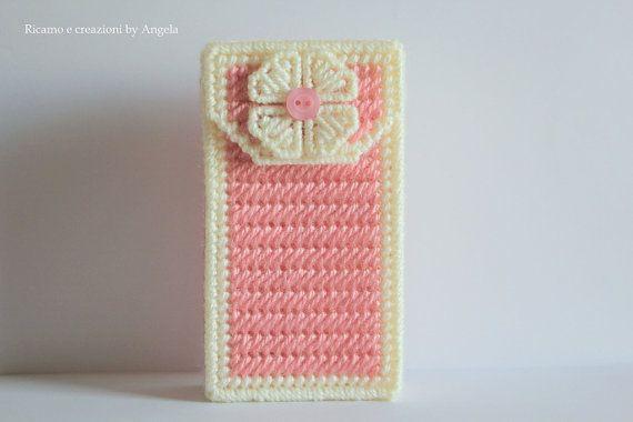 Porta fazzoletti di carta pocket tissue di Ricamoeplasticcanvas