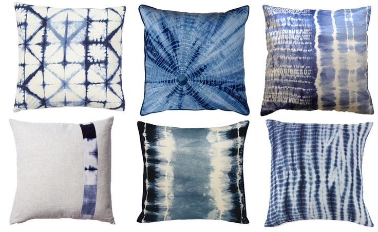 Shibori decorative pillows