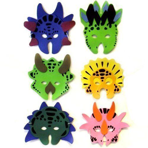 Dinosaur Foam Masks, 6 supplied Ark Toys http://www.amazon.co.uk/dp/B005GL5F26/ref=cm_sw_r_pi_dp_kAE6ub0PKYZ7E