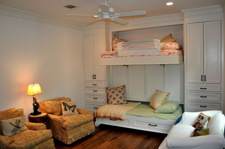 Baroque bunk beds with slide in Bedroom Traditional with Folding Beds next to Bed Sitter alongside Murphy Bunk Bed and Trundle Bed