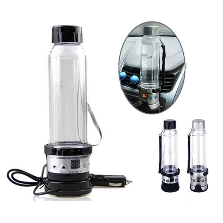 New 12V 75W Car Electric Kettle 280ML Holder Auto Heating Cup Travel Heated Cup Hot Water Heater For Coffee Tea Mug