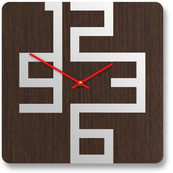 10in Cornell Dark Modern Wall Clock
