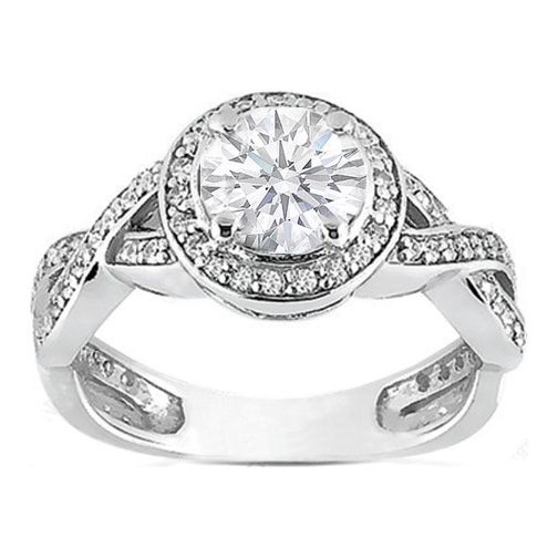 I can dream.  Platinum Round Diamond Vintage infinity Engagement Ring 0.36 tcw.