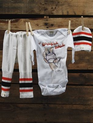 "If you love a little ""baseball couture"" then check out Tiny Turnip. Super cute outfits for the little ones."