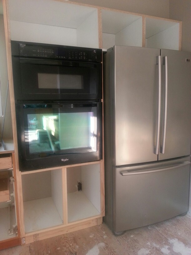 wall oven cabinet before door installation oven cabinet on wall ovens id=26637
