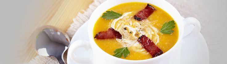 Soupe aux légumes et au bacon