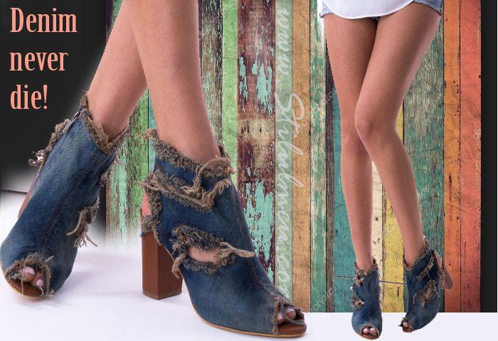 """""""Denim never die"""", alege sandale din denim cu toc, pantofi, tenisi sau cizme lungi - http://www.stilulmeu.com/sandale-din-denim-pantofi-tenisi-cizme-denim/"""