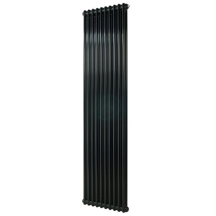 900H x  398W 2 Column Vertical Jet Black Radiator