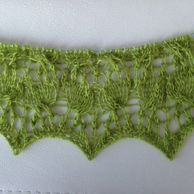 New cable and lace pattern Ensemble Light has great texture.: Patterns Ensembl, Lace Patterns
