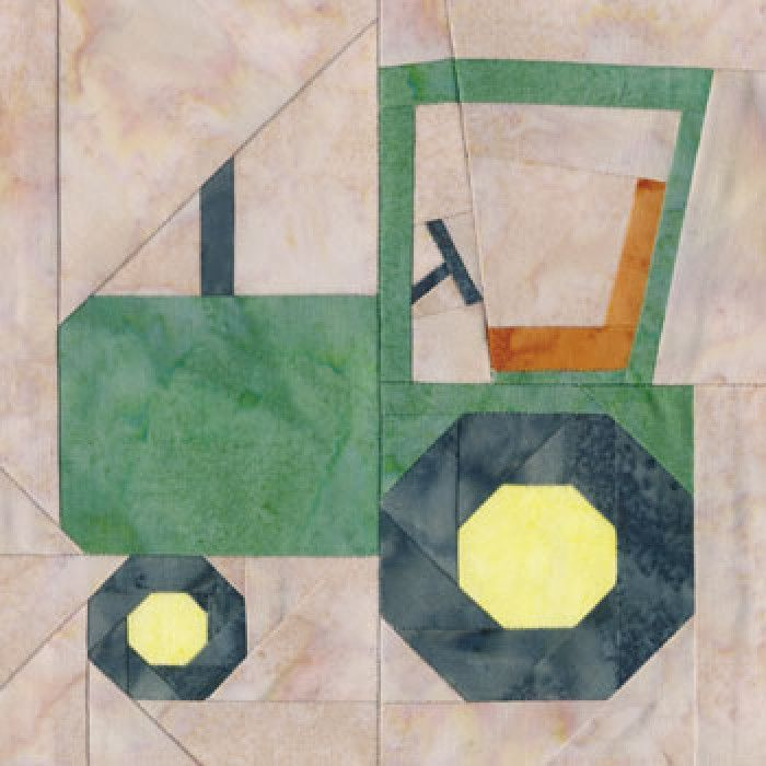 Tractor Quilt Block Pattern- could this be a John Deere tractor.... lol