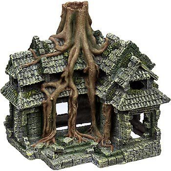 Amazon.com: Petco Cambodian Ruins House Aquarium Ornament Ruins Collection: Pet Supplies