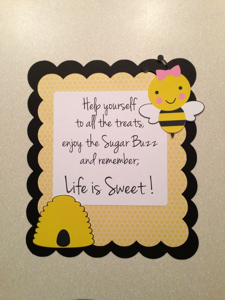 Bee Party Sign