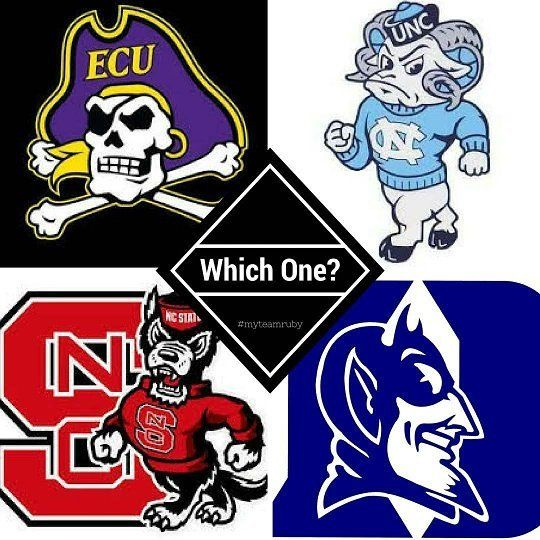 College football is this weekend!  Which one do you choose?  Comment below!  #ecu #duke #ncstate #unc  #myteamruby #kwraleigh #sellingraleigh  repost via @exploringthetriangle