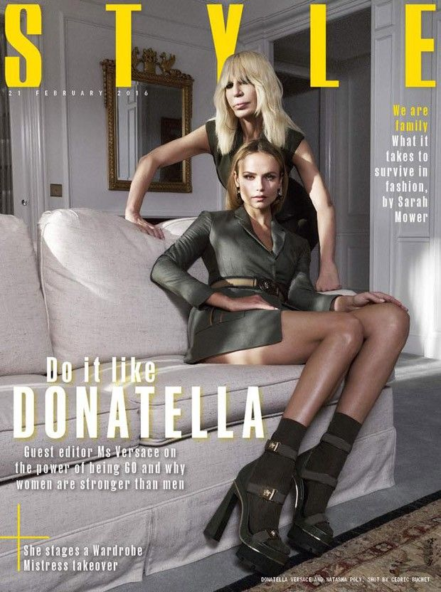 Donatella Versace and Natasha Poly for Sunday Times Style - VERSACE: http://www.designscene.net/brands/versace