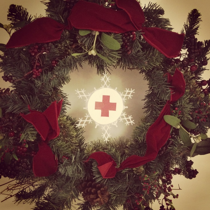 Red Cross Holiday Wreath