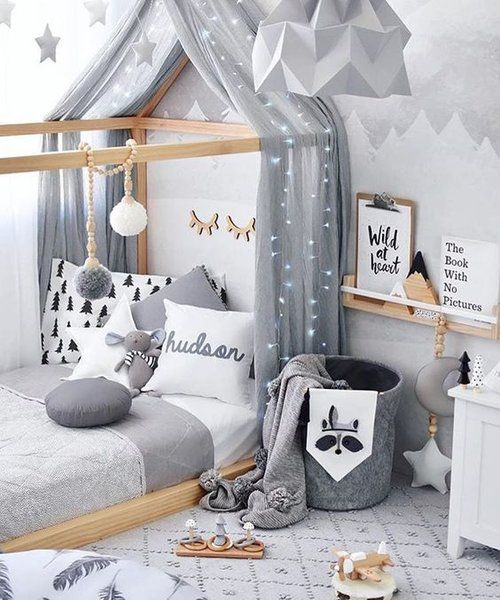 Love How Cozy This Toddler Boy's Room Is Minimal Decoration Yet So Stunning Baby Boy Bedroom Design Ideas Minimalist