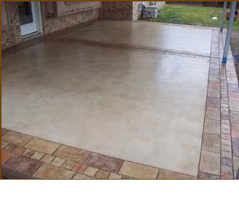 Concrete Patio With Border