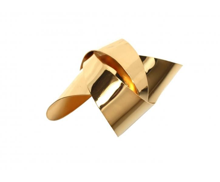 Large Gold Origami Cuff, £POA from tombinnsdesign.com