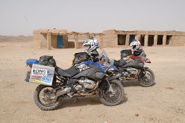 Bikes in th desert by Long Way Down1