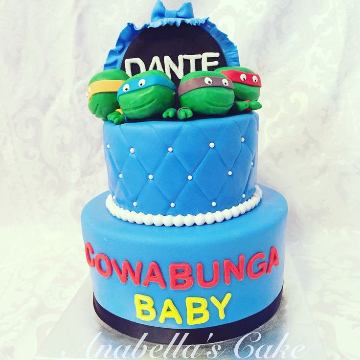 baby shower ninja turtles cake cakes ideas pinterest cakes