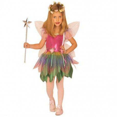 Disfraz de Hada del Arcoíris infantil.  Ideal para fiestas temáticas, Carnaval o para pasar una tarde de cumpleaños.