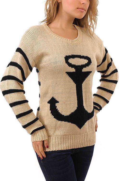 свитер с якорем - Поиск в Google