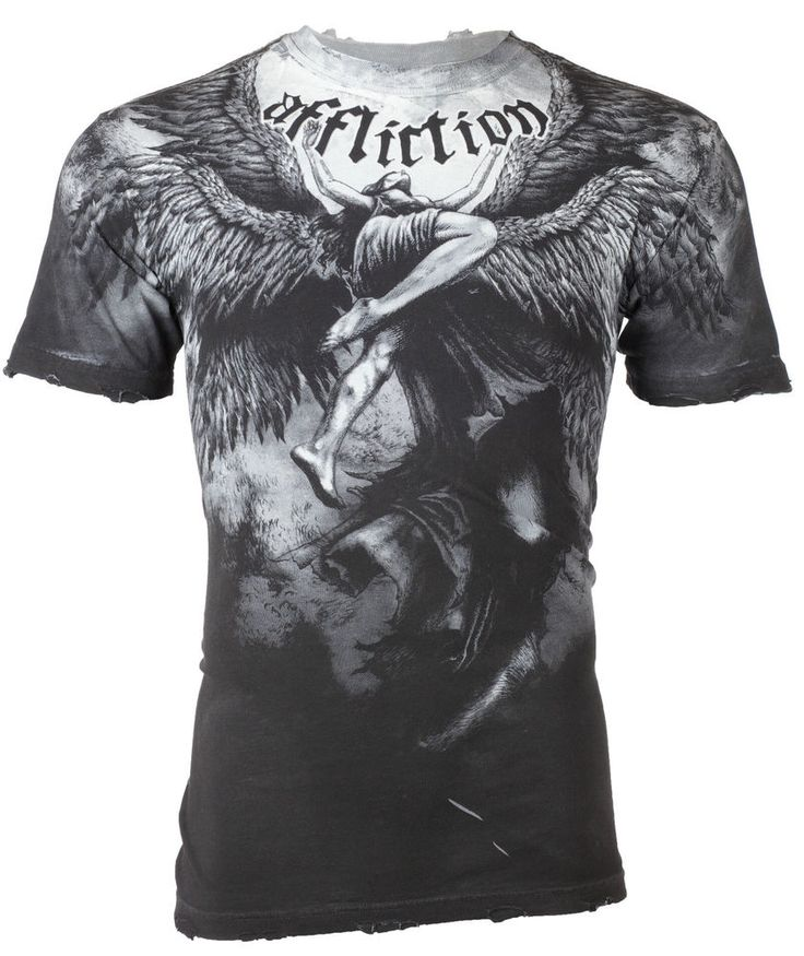 AFFLICTION Men T-Shirt UPWARD Angel Wings Tattoo Fight Biker MMA UFC M-4XL $63 b #Affliction #GraphicTee