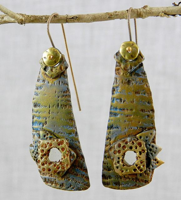 Imaginarium earrings - polymer clay by Stories They Tell, via Flickr