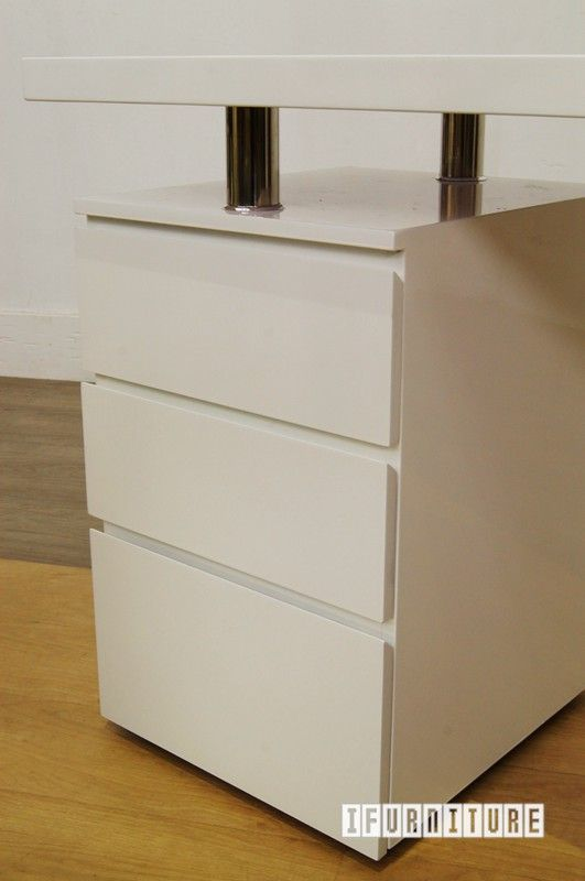 LONGITUDE High Gloss White Desk , Office, NZ's Largest Furniture Range with Guaranteed Lowest Prices: Bedroom Furniture, Sofa, Couch, Lounge suite, Dining Table and Chairs, Office, Commercial & Hospitality Furniturte