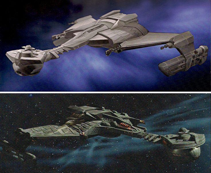 John eaves design for the klingon warbird used in the for Wohnung star trek design